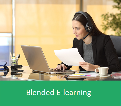 Blended e-learning with face to face or distance coaching
