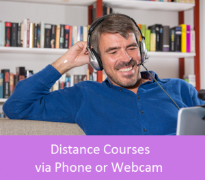 Distance courses via phone or webcam