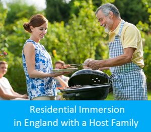 Language immersion in England with a host family